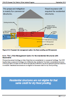 A second page from the Florence, Kansas Flood Risk Management Options report