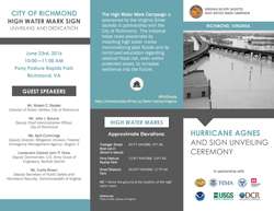 Brochure image for the Hurricane Agnes and Sign Unveiling Ceremony